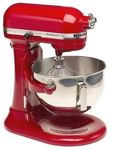KitchenAid Professional 5 Plus Stand Mixer RKV25G0XER, 5-Quart, Empire Red, (Renewed)