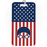 Swimming Luggage & Bag Tag | USA Swim | Standard Lines on Back | LARGE