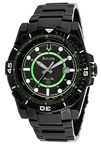 Bulova Men's 98B178 Marine Star Black Stainless Steel Watch