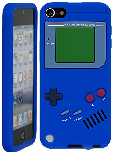 iPod Touch, iSee Case (TM) Game Boy Control Silicone Full Cover Case for Apple iPod Touch 6 6th Generation / 5 5th Generation (it6-Gameboy Blue)