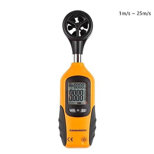 Anemometro Digitale Tester di Velocità di Vento Misuratore di Vento 1m//s-25m//s
