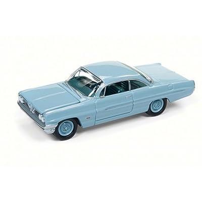 Round 2 1961 Pontiac Catalina, Tradewind Blue JLSP008/24B - 1/64 Scale Diecast Model Toy Car: Toys & Games [5Bkhe0301627]