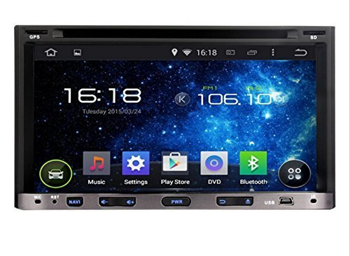 ANLU 2 din 6.95 inch Universal Android 4.4.4 Car DVD Player Head Unit with 3G Wifi GPS Navigation Radio Bluetooth DVD 3g Wifi Radio