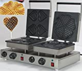 EB-75 Double-Head Electric Heart Waffeleisen + Heart Shape Waffle Maker Machine Baker