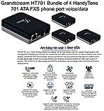 Grandstream HT701 ATA Single FXS phone port voice/data HandyTone, BUNDLE of 4