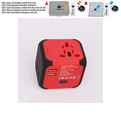 Travel adapter All in one converter AC wall Power Plug EU US ...