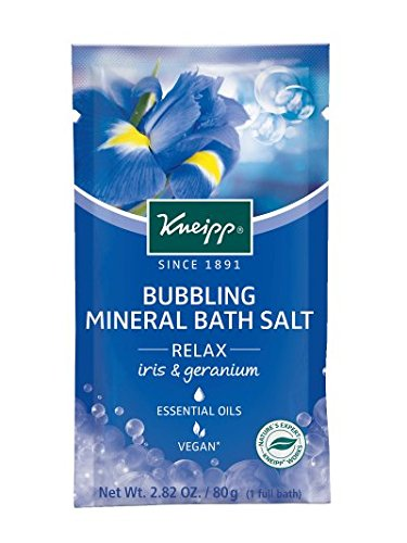 Iris Salt - Kneipp Bubbling Mineral Bath Salt, Relax, Iris and Geranium, 2.82 oz.