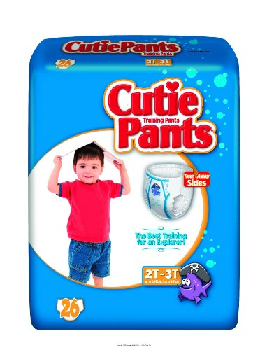 Cutie Pants, Cutie Trnpnt Boy 2T-3T 34Lbs, (1 CASE, 104 EACH) by First Quality