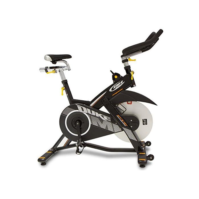 515EZZ1%2BRzL Volante inercia de 20kg para un pedaleo estable. Freno magnético con selector de 16 niveles y freno de emergencia Monitor LCD multifunción retroiluminado. Muestra RPM, tiempo, calorías, distancia, vatios y pulso.