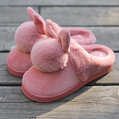 YMFIE L'automne et l'hiver Chaussons en coton à l'intérieur des chaussures chaussons moelleux chaud épaississement