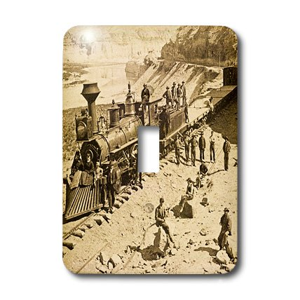 (3dRose lsp_16161_1 Scenes From The Union Pacific Railroad Light Switch Cover)