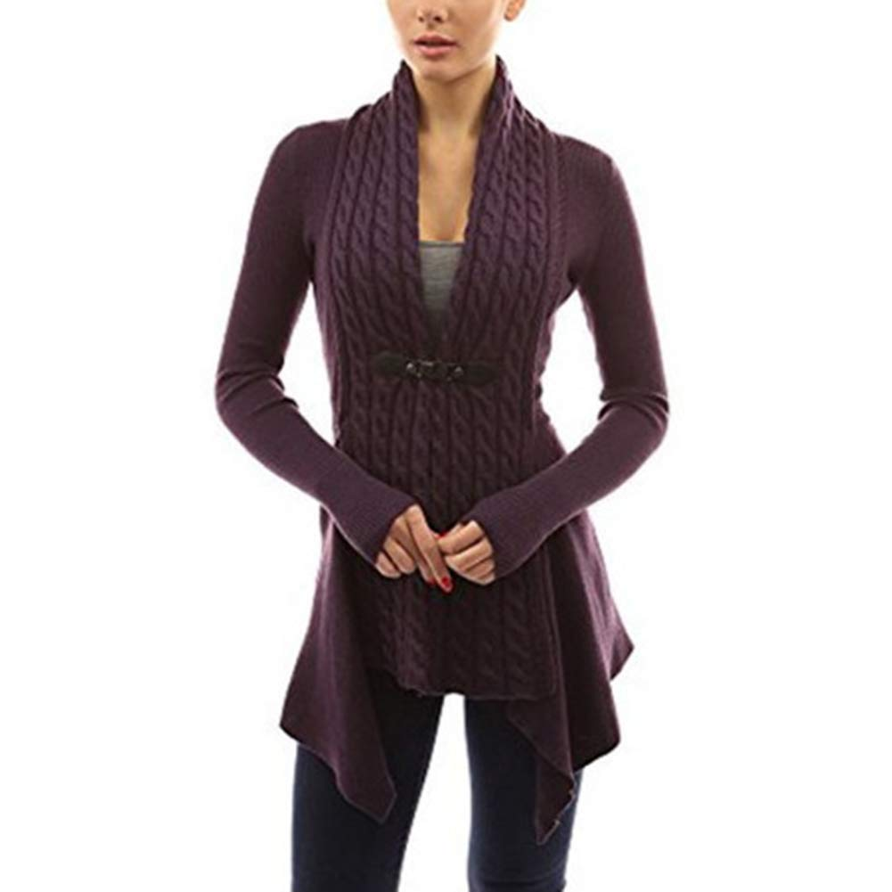 04142a88454e Leoie Fall Cardigan Sweaters for Women Plus Size Knit Cardigans for Women V-Neck  Cardigan Long Sleeve Twist Knitted Sweaters Women Girls Warm Autumn Jacket  ...
