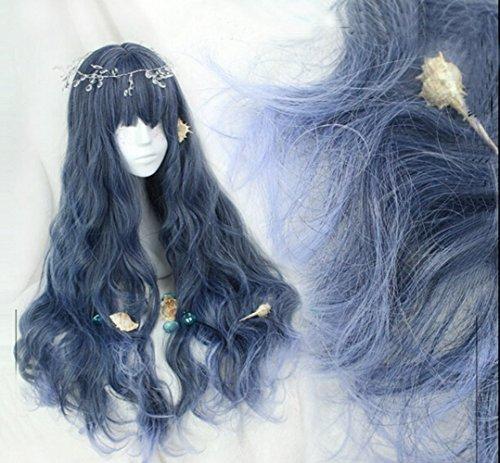 dark blue and light blue wig - 1