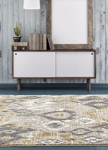 6021 Beige abstract Trellis 7'10x10'6 Area Rug Carpet Large New