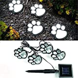 Dartphew Bike Accessories,Dartphew 1Set Solar Print Paw Lights Cat Dog Animal Paw Garden Outdoor Fashion Cute LED Path Lamp Auto On(Light Up Automatically At Dusk,Shine 'til dawn)