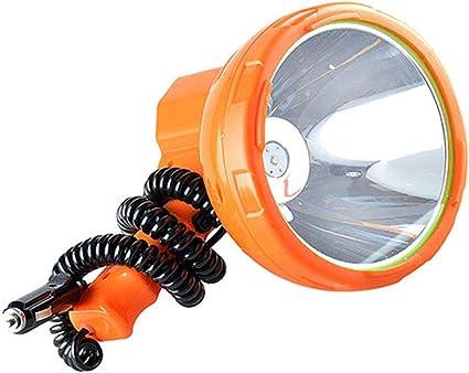 QAR Foco de b/úsqueda para exteriores para exteriores LED de largo alcance 1000 m Foco de b/úsqueda multifuncional para autom/óvil externo 50W Glare 12V Proyector port/átil de larga distancia Luz de pesca