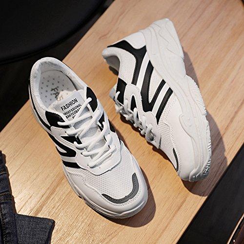 Cybling Womens Elev Athletic Sportskor För Att Köra Utomhus Träning Andas Komfort Sneaker Svart