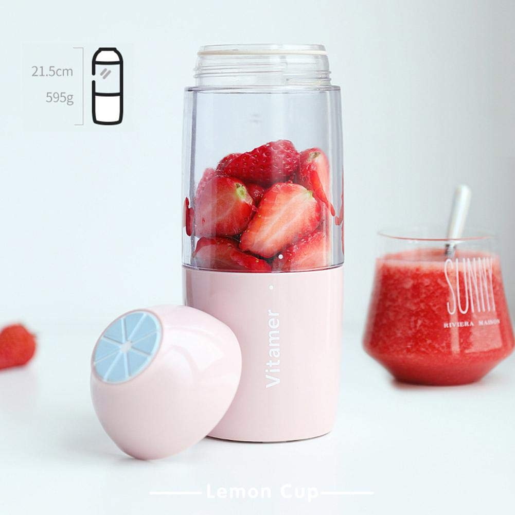 Smoothie Blender USB Juicer Cup Detachable Cup 4000mAh Rechargeable Battery Mens Gift New Portable Blender 17 oz Fruit Blender Perfect Blender for Personal Use by iBelly
