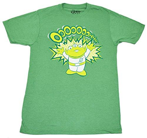 Disney Toy Story Alien Ooooohhhhhh T-shirt (Large, Heather Green) (Toy Story Shirts)