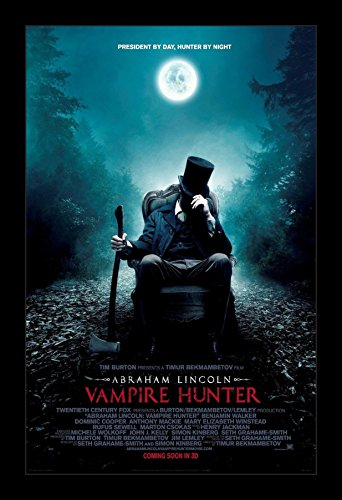 Abe Lincoln Vampire Hunter - 11x17 Framed Movie Poster by Wallspace ()
