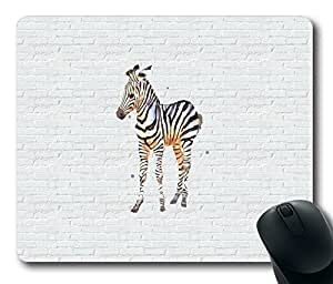 Horse On White Wall Masterpiece Limited Design Oblong Mouse Pad by Cases & Mousepads