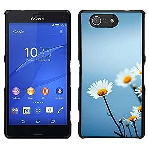 La elegancia Inocencio floral - Metal de aluminio y de plástico duro Caja del teléfono - Negro - Sony Xperia Z4v / Sony Xperia Z4 / E6508