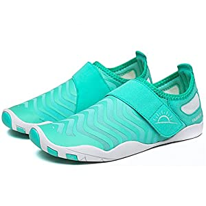 L-RUN Womens Water Shoes Barefoot Quick Dry Aqua Sports Sneakers Light Blue L(W:8.5-9)=EU 39-40