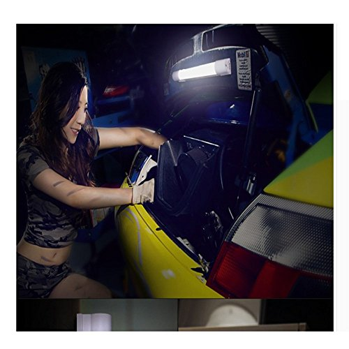 ZGFlhq Les Travaux De Réparation L Éclairage D Urgence Machine Outil Puissant Magnétisme Maintenance Ultra Bright Charge Étendue Inspection Auto Lumière Black 34Cm X 6000 Maman