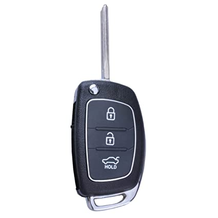 New Keyless Entry 3 Buttons Repair Smart Remote Key Fob Shell Case  replacement for 2013-2014 Hyundai Santa Fe (Ix45)