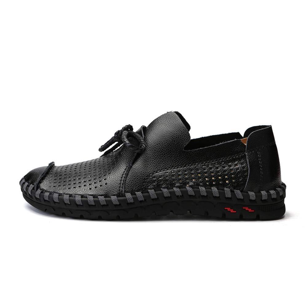 Hongjun-shoes, Mocasines de Suela Blanda para Hombre para Mocasines de Barco de ventilación de Cuero Casual de Verano, Mocasines para Hombre 2018 (Color ...