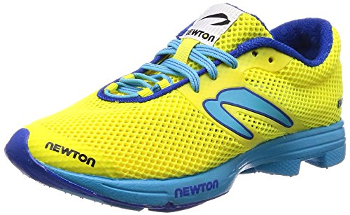 Newton Running Women's Distance Elite Neon Yellow/Blue 9.5 B US