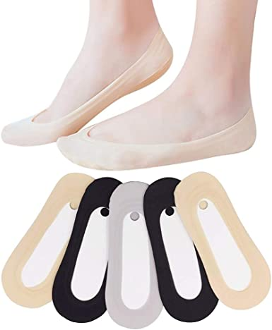 5 Pairs Breathable Ankle Boat Socks Invisible Women Cotton Non-slip Low Sock New