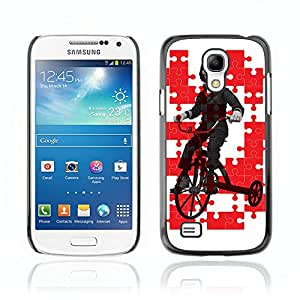 CASETOPIA / Jig Saw / Samsung Galaxy S4 Mini i9190 MINI VERSION! / Prima Delgada SLIM Casa Carcasa Funda Case Bandera Cover Armor Shell PC / Aliminium