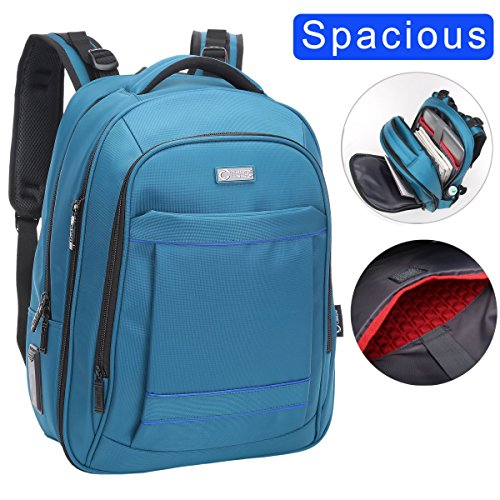 """Price comparison product image CrossLandy Extra Large Computer Backpacks for Laptops for 15.6"""" Laptop for Men Women Business Travel Backpacks Water Resistant Blue"""