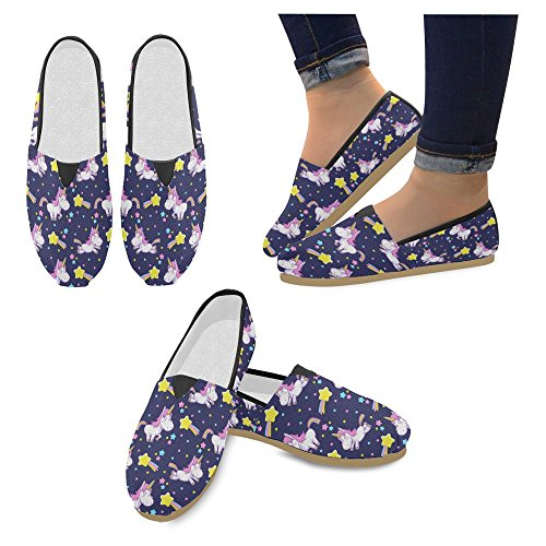 InterestPrint Womens Loafers Classic Casual Canvas Slip On Fashion Shoes Sneakers Flats Multi 7 JkBwZWx