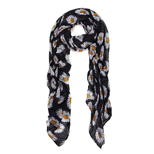 premium-daisy-floral-fashion-scarf-wrap-black