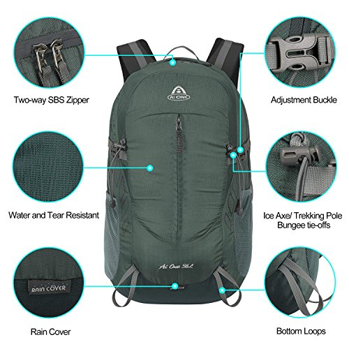 36L Way AI Backpack Carry Packable on 3 for ONE Grey School C Foldable Men Women Camping Outdoor Cycling xwAS4Tqnw