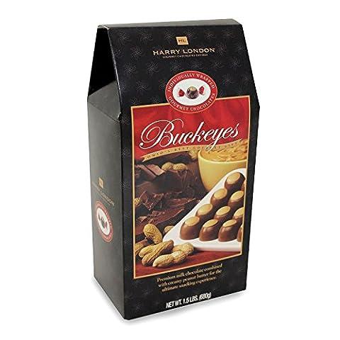 Harry London Gourmet Chocolate Peanut Butter Buckeyes 1.5lb box - Harry London Truffles