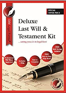 Last will testament kit do it yourself kit amazon eason deluxe last will and testament kit 2018 edition brand new and sealed direct solutioingenieria Image collections