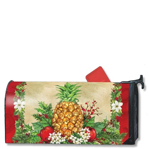 (MailWraps Holiday Pineapple MailWrap Mailbox Cover 00133 )