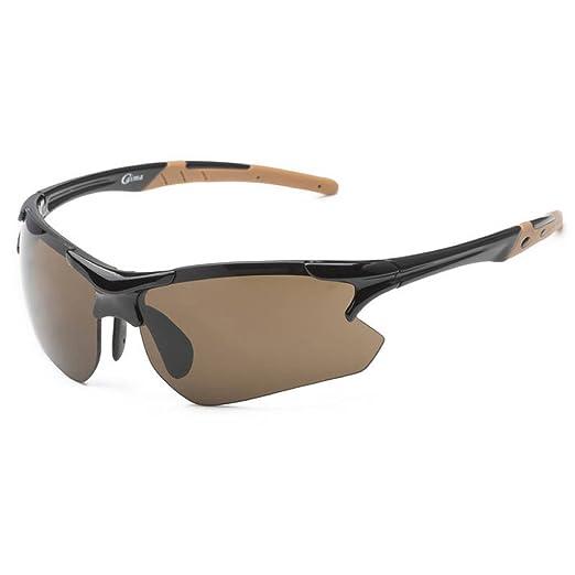 34fa0fecf3a Running Cycling Triathlon Fashion Sports Wrap Sunglasses UNBREAKBLE TR90  Frame in Black   Amber
