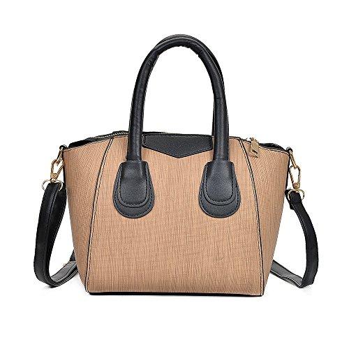 In Nero Borsa borsa A Bag Casuale Pelle Donna Tote Donna Innerternet Tracolla Cachi Zip Brosa q8O8I