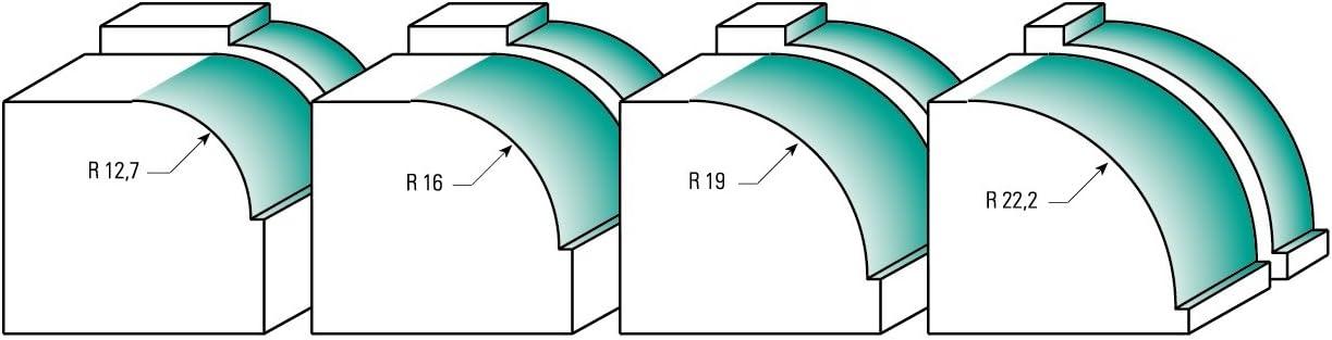 R 9,5 mm 8 mm D 32 mm B 15,9 mm Durchmesser 31,8 mm A mit Kugellager Schaft HM C ENT 09814 Viertelstabfr/äser HW
