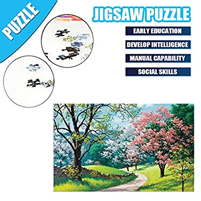 1000 Piece Puzzles Spring,Jigsaw Puzzles for Adults,Children Puzzle Puzzle Toy Landscape Pattern: Toys & Games