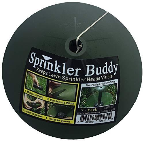 Sprinkler Buddy 7 Pack - Sprinkler Donuts - Keeps pop up Sprinkler Heads Visible Long Term. Remove Sprinkler Head to Install. Made in USA