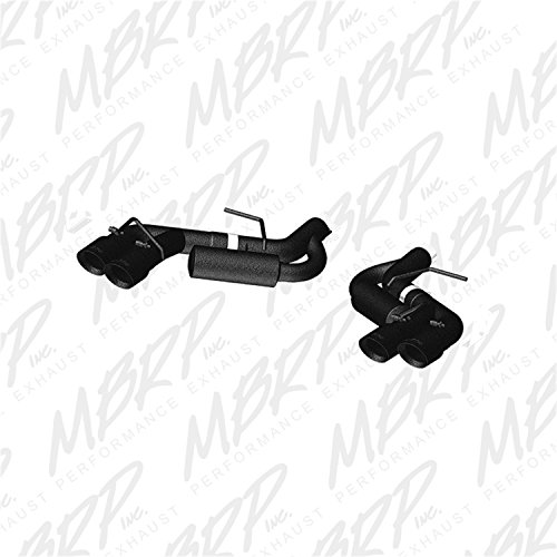 l Axle Back, Quad Tips Exhaust System (Black Coated) ()