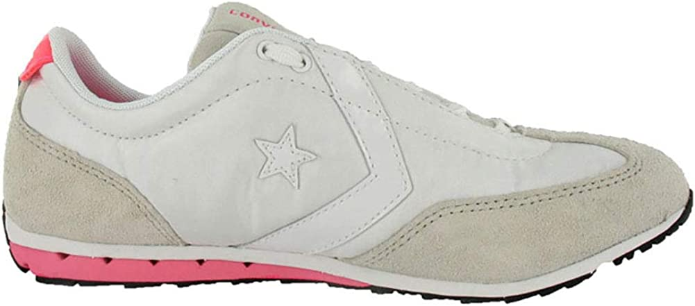 Converse Women's Revival Ox Ankle-High Fabric Running Beige/Pink/White