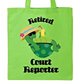 Inktastic - Retired Court Reporter Gift (Funny) Tote Bag Lime Green 11464