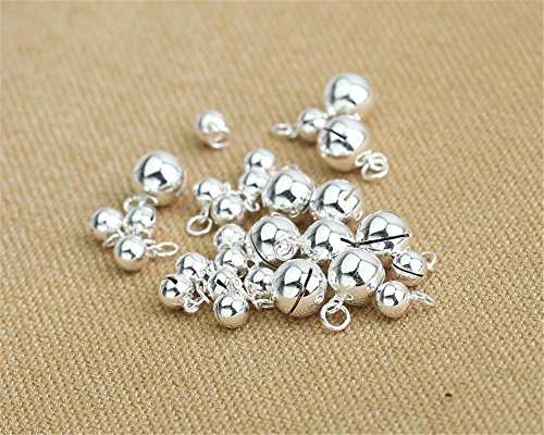 Luoyi Sterling Silver Bell Charms, Nice for Christmas Day Decoration (L002D) (5mm)