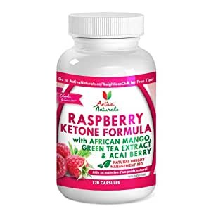 Natural & Herbal Advanced Fat Burning Raspberry Ketone Formula ~ African Mango Extract, Acai Berry, Green Tea Extract and Other Natural Fat Burning Ingredients for Natural Weight Loss - 60-Day Supply
